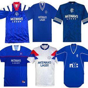 Glasgow Rangers Retro 87 90 92 94 96 97 99 01 soccer jerseys GASCOIGNE MCCOIST Soccer Shirts ALBERTZ 1999 2001 Retro classic football shirt