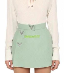 high-end mulheres menina calções saia calças de cristal carta ocasional solta ampla perna de uma linha de calções leggings pista 2020 vestido de design de moda de luxo
