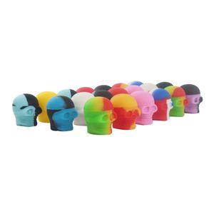 De valores en EE.UU.! 3ML cráneo antiadherentes contenedores de cera 50pcs / Lot frascos de calidad alimentaria de silicona de almacenamiento de silicio cuadro de 3 ml para vape vaporizador