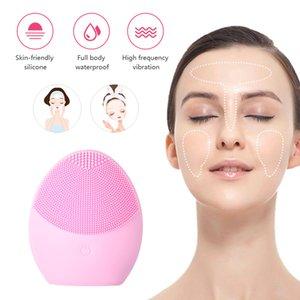 Professional Ultrason Vibration Batterie nettoyante pour le visage se laver le visage Brosse peau comédons Pore Cleaner Massage du visage