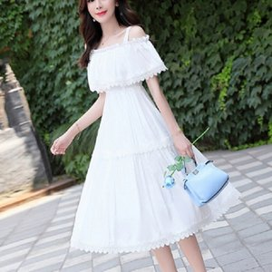 Spring and Autumn New Women's Long High Waist Dress Korean Hanging Skirt Loose Fairy Skirt Summe
