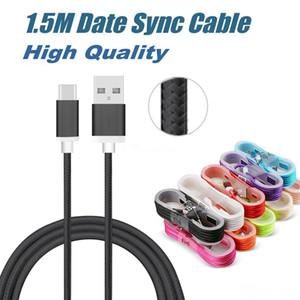 Haute Qualité 1.5M Type C USB de charge USB Cordons Braid C Mirco Câble USB avec tête Boîtier métallique pour téléphones mobiles Android Universal