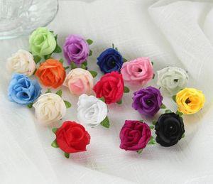 Cabeza de flor artificial 3cm mini paño de DIY Rose Rose para el partido de la boda de decoración de interior Inicio