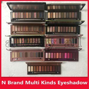 Faced Make-up Lidschatten 12 Farben Lidschatten-Palette mit Pinsel Smoky Matte Nude 12colors Augenschatten N1 N2 N3 N4 N5 ... Wärme Kirsche