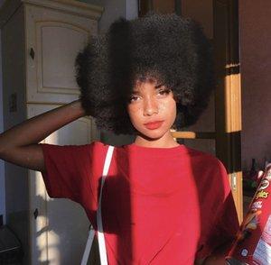 تسريحة جديدة أعلى جودة السيدات 'قصيرة مجعد غريب شعر مستعار البرازيلي الشعر الأفريقي العامري محاكاة الانسان الشعر شعر مستعار مجعد للمرأة في الأوراق المالية