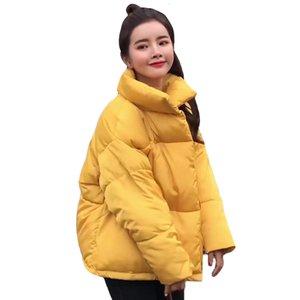 2019 Kadın Kış Ceket Iki Büyük Cep Kadın Ceket Ile Standı Yaka Pamuk Yastıklı Bayan Casaco Feminina Inverno Sıcak T190817
