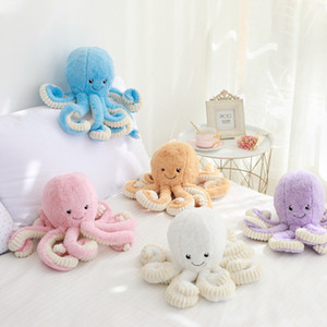 Creative Plush Toys Octopus Doll Soft Cute Pink Cartoon Octopus Plush Animals Baby Sleeping Appease Toy Christmas Gift EEA951