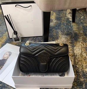 A001 Designer Marmont borse borsa di alta qualità Borse originale morbida pelle di pecora Borse donne del cuoio genuino spalla