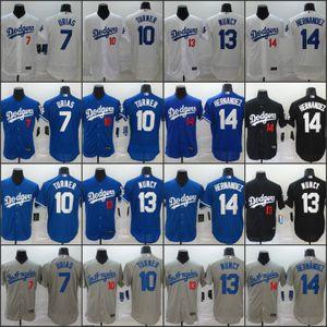 Los Angeles 2020 Dodgers Jersey 13 Max Muncy 7 Julio Urias 10 Justin Turner 14 Enrique Hernandez 05