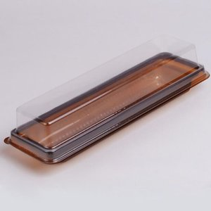 Long Transparent Roll Cake Box Plastic Blister Baking Dessert Cake Packaging Box Wholesale Fast Shipping ZC0045