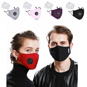 Gesichtsmasken Mode Unisex-Atem-Ventil PM2.5 Mundmaske Anti-Staub-Anti Pollution Aktivkohlefilter Respirator Mouth-Muffel YP333