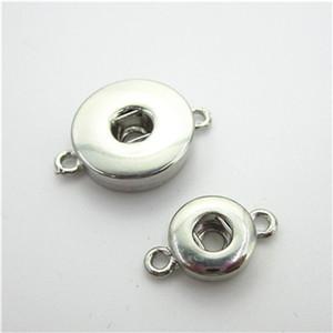 50pcs / lot Verrouillage Interchangeable Snaps Button Accessoires BRICOLAGE Snap Collier BraceletBangles Fit 18mm 12mm Snap Bijoux