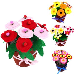 DIY Kids Crafts Flower Pot Toys For Children Kindergarten Learning Education Toys Montessori Teaching Aids Toy Arts And Crafts