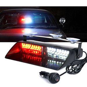 16 LED 48W récent VIPER S2 de camion de voiture d'urgence Strobe pare-brise éclair Avertissement Lumière Orange Rouge Bleu clignotant Led 12V