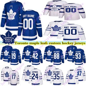 Men's Kids Womans Toronto maple leafs jerseys 17 Wendel Clark 93 Doug Gilmour Zach Hyman Kapanen Customize any number any name hockey jersey