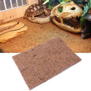 Reptil cama Mat tortuga lagarto Escalada mascotas Especial Mat tortuga de fibra de coco Palm Pad Box Paisaje Mats 4 Tamaños C42