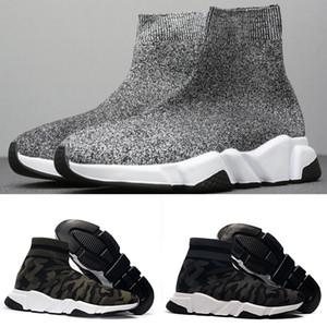 2020 디자이너 양말 신발 속도 트레이너 캐주얼 발목 부팅 트리플 검정, 흰색 반짝이 여성 CHAUSSURES 플랫폼 스포츠 운동화 36-45 망
