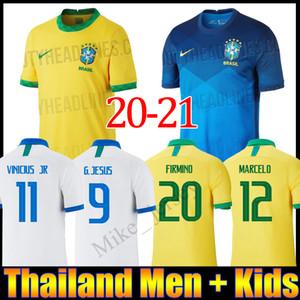 19 20 21 البرازيل لكرة القدم جيرسي JR COUTINHO باولينيو MARCELO G JESUS 2020 2021 البرازيل COSTA بعيدا المنزل الرجل والاطفال قمصان كرة القدم