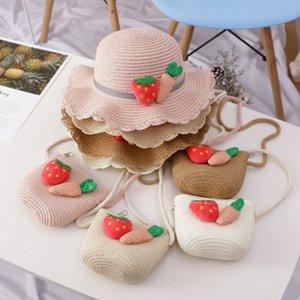 Bambini cappello femminile Summer Sun Princess Beach cappello della visiera Ragazze cappello di paglia di Sun bacino del bambino Pescatore