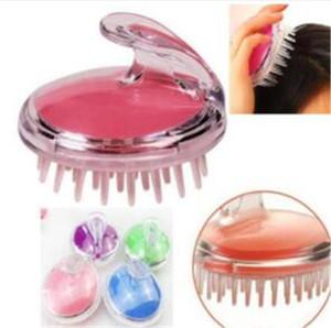 Silicone Head Massager Shampooing Massage du cuir chevelu Brosse à cheveux peigne laver Massage du corps Brosse