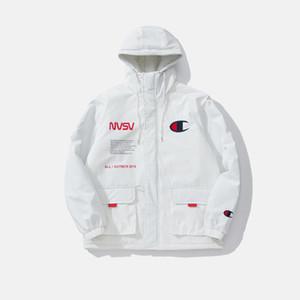 champions hommes design veste d'hiver marque européenne de la marée américaine l'hiver mode indispensable manteau de duvet casual couleur unie de haute qualité veste