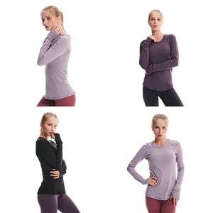 LU Yoga Gear Primavera Magro Sport Wear Run vestiti a maniche lunghe T Shirt Donne popolare di modo attivo 75lya UU