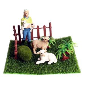 Mini heykelcik Koyun Mikro Peyzaj Çiftliği Minyatür Süsler DIY Yaratıcı