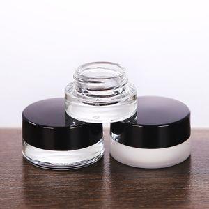 Jar Clear / fosco Vidro Jars 3g 5g 7g cosmética com interior PP Liner para creme facial mão Lip Balm loção