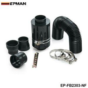 Alimentação Universal Fria Intake Indução Kit Fibra de Carbono Filtro de ar Caixa sem ventilador para Mini Cooper S R53 EP-FB2303-NF