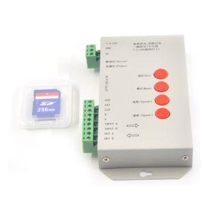 DC5V-24V T-1000S SD Card LED Controller Pixel Led Control 2048 пиксельный контроллер с SD CardSupport DMX512 ws2811 RGB контроллер
