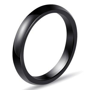 3 milímetros de luz anéis de cerâmica 4 cores simples para as mulheres suaves anéis de cerâmica WhiteBlackBluePink Moda casamento anel de noivado
