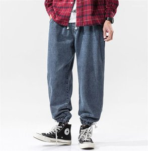 Jeans solto Big Moda Pants Tamanho Masculino lavado azul Harem Jeans Designer Mens Primavera