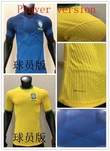 2020 Player versão Brasil Soccer Jersey 20 21 Início NEYMAR JR G.JESUS P.COUTINHO MARCELO camisas da equipe nacional FIRMINO Football Unifor
