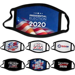50pcs Designer Gesichtsmaske 2020 Trump Präsidentschaftswahlkampf Mode schwarzen Gesichtsmasken Trump Druckmaske Schutzstaubdichtes Mundmaske
