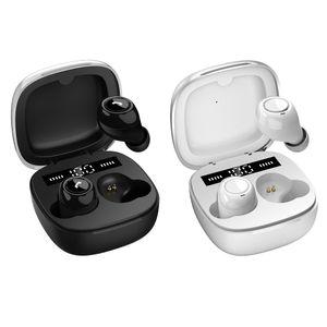 TWS C1 Bluetooth Fones de ouvido estéreo sem fio invisível Earbuds Sports Headphone com display LED de carregamento Box Mic Handsfree para o telefone