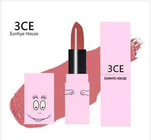 3CE Eunhye البيت البكم السلس ترطيب الشفاه ملمع الشفاه ماء ماكياج التجميل شفة العصا 3CE BARBAPAPA أحمر الشفاه 6 ألوان