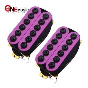 Un ensemble réglable en métal double bobinage guitare Micros Humbucker Punk Violet