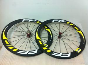 FFWD Yol Sarı 60mm Tekerlekler boru şeklindeki karbon yol bisikleti bisiklet tekerlekleri Geniş Karbon Elyaf Wheels 23mm