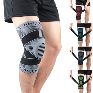 1pc Pressurize Nylon silicone Knee Pad Sleeve Thermal Compression Leg Protector For Weight Lifting Basketball Running sports safety