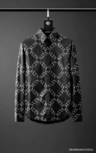 Camisa para hombre camisas de marca diseñador francés París marca de ropa de 041 hombres de manga larga estilo de Hip Hop camisa de algodón de alta calidad 2019 nueva llegada