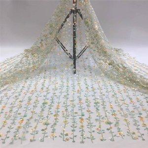 dikiş taşlar 5 kilometre / adet Fransız net LACES payetler kumaş işlemeli bordo Afrika payet dantel kumaş