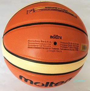 Yüksek Kaliteli Erimiş Basketbol GG7X Boyut 7 PU Malzeme Basketbol Topu Açık Kapalı Eğitim Topu Ücretsiz Kargo