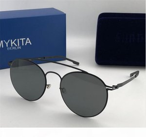 MYKITA nueva gafas de sol del marco ultraligero sin tornillos MKT MMESSE marco redondo hombres superiores de las gafas de sol gafas de sol de diseño de recubrimiento de lentes de espejo
