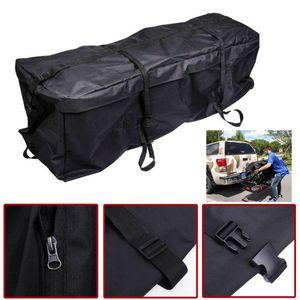 Universal Car Roof Top Bag Roof Top Bag rack de carga do portador de bagagem de viagem de armazenamento impermeável SUV Van para carros Styling