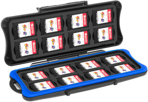 Switch Game Card Case Storage Box with 16 Game Card Slots and 16 Micro SD Card Holders for Nintendo Switch