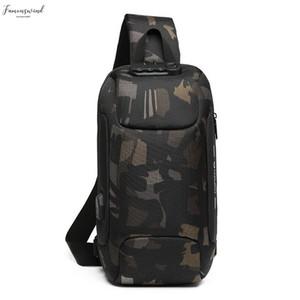Ozuko Mens Multi Function Messenger Bag Anti Theft Waterproof Travel Chest Bag High Quality Men Shoulder Bags 45