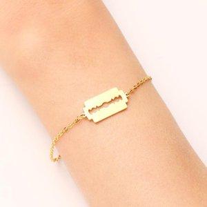 DOTIFI Bracelet en acier inoxydable pour les femmes d'or et d'argent Couleur Shaver Forme Pulseira Feminina Bijoux Engagement Lover
