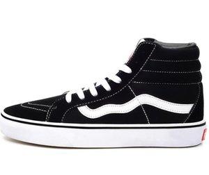 DORP NAKLIYE Klasikleri Siyah Beyaz Yüksek Kaykay Ayakkabı Eski Skool Sk8-hi Tuval Erkek Kadın Rahat Düz Ayakkabı Sneakers 35-45