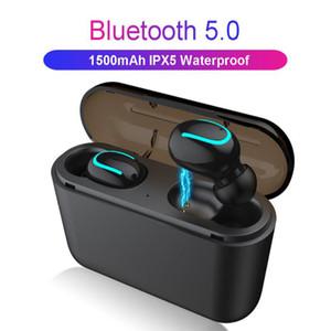 Q32 TWS 블루투스 5.0 이어폰 2000MAH 블루투스 5.0 + EDR 헤드셋 미니 무선 헤드폰 무선 이어폰