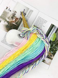 2020Unicorn Baby Hair Bow Holder Hanger Girls Hairs Clips Storage Organizer Portable Hairwear Belt Nursery Decor Kids Hair Bow Organizer 30p
